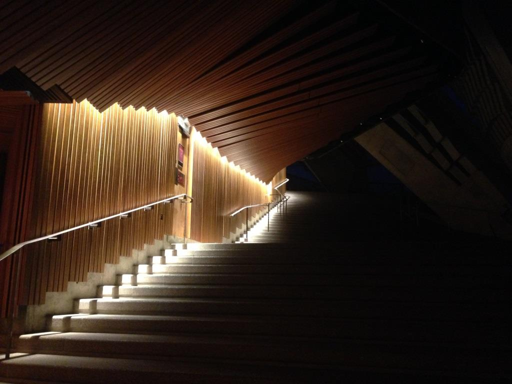 Sydney Opera House Concert Hall Side Foyer Lighting
