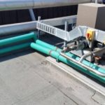 Chilled water pipework on roof