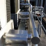 Chiller pipework lagged