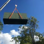 500Kva Generator being craned into position