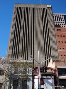 Telstra telephone exchange building in Sydney which was the site for a generator upgrade project carried out by Ryan Wilks